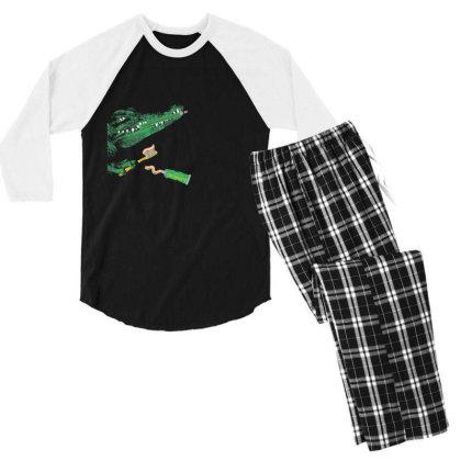 Crocodile Men's 3/4 Sleeve Pajama Set Designed By Disgus_thing
