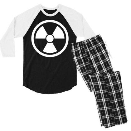 Funny Novelty T Shirt Mens Tee Tshirt   Radioactive Glow In The Dark Men's 3/4 Sleeve Pajama Set Designed By G3ry