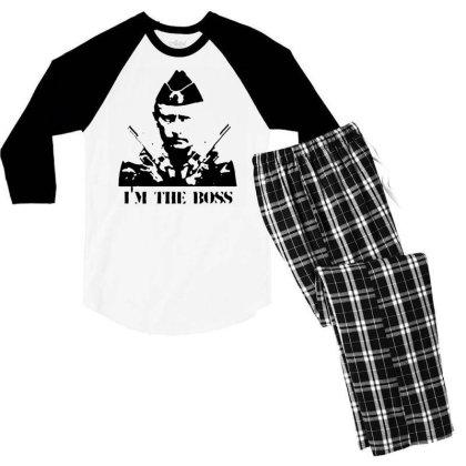 Funny Parody Vladimir Putin T Shirt Men Streetwear Top Tee Humor Russi Men's 3/4 Sleeve Pajama Set Designed By G3ry
