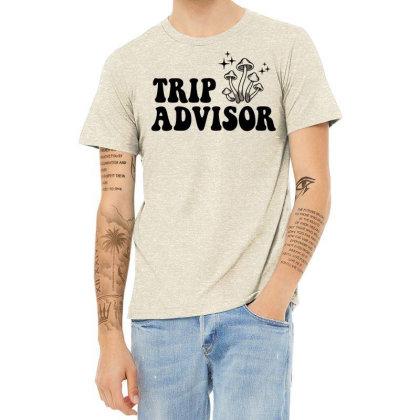 Funny Stoner Trip Advisor Ringer T Shirt Heather T-shirt Designed By G3ry
