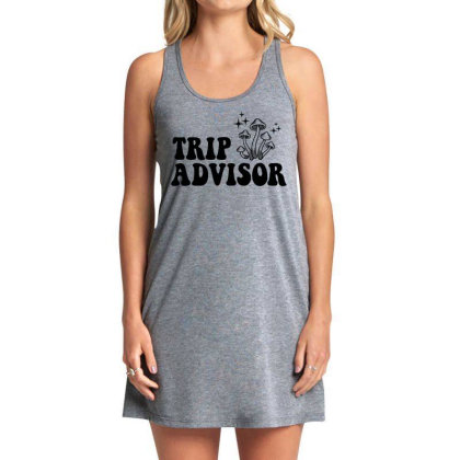 Funny Stoner Trip Advisor Ringer T Shirt Tank Dress Designed By G3ry
