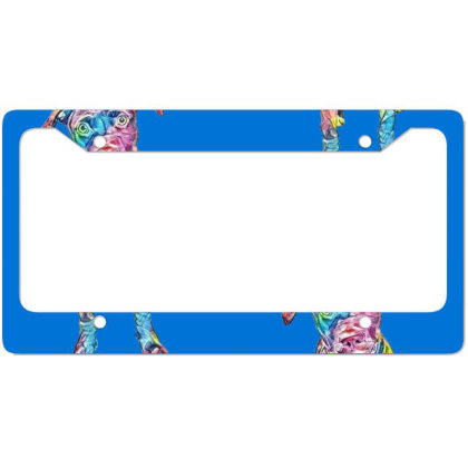 Adorable Young Brown And Whit License Plate Frame Designed By Kemnabi