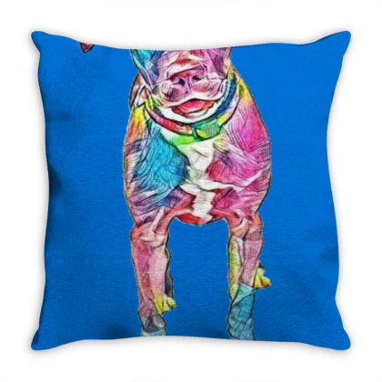 Adorable Young Brown And Whit Throw Pillow Designed By Kemnabi