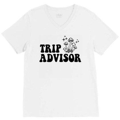 Funny Stoner Trip Advisor Ringer T Shirt V-neck Tee Designed By G3ry