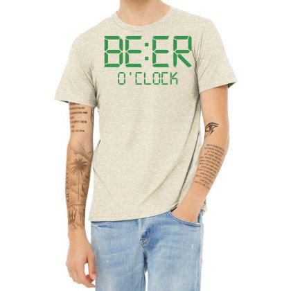 Funny T Shirt Beer O'clock Regular Fit 100% Cotton Tee Heather T-shirt Designed By G3ry