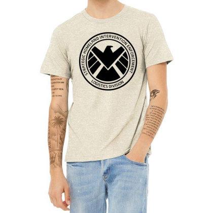 Agents Of Shield   Black Heather T-shirt Designed By Beach Boy