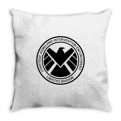Agents Of Shield   Black Throw Pillow Designed By Beach Boy