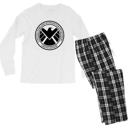 Agents Of Shield   Black Men's Long Sleeve Pajama Set Designed By Beach Boy