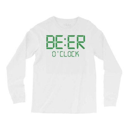 Funny T Shirt Beer O'clock Regular Fit 100% Cotton Tee Long Sleeve Shirts Designed By G3ry