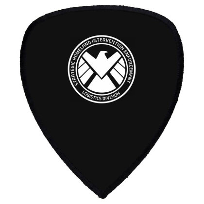 Agents Of Shield   White Shield S Patch Designed By Beach Boy