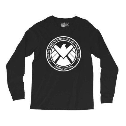 Agents Of Shield   White Long Sleeve Shirts Designed By Beach Boy