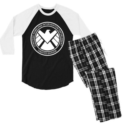Agents Of Shield   White Men's 3/4 Sleeve Pajama Set Designed By Beach Boy