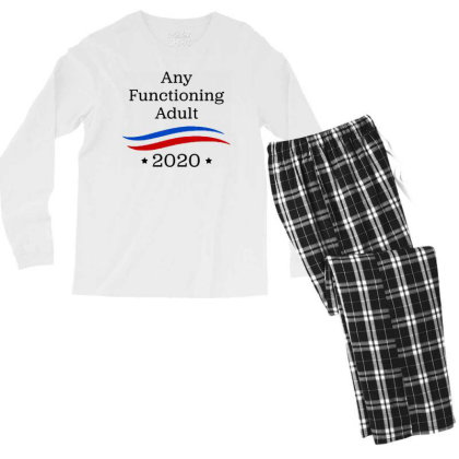 Any Functioning Adult 2020   For Light Men's Long Sleeve Pajama Set Designed By Beach Boy