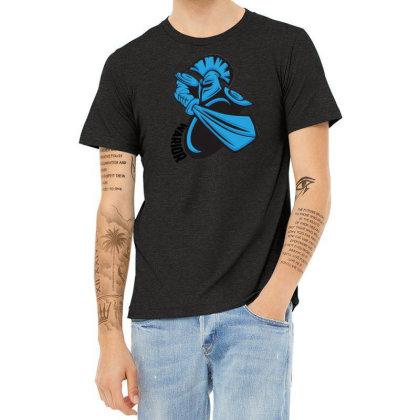 Warrior Vector Heather T-shirt Designed By Jhanafi