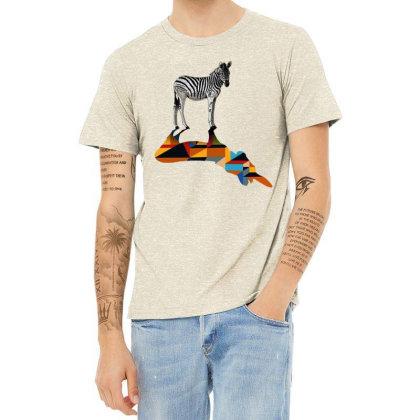 Awesome Zebra Heather T-shirt Designed By Beach Boy
