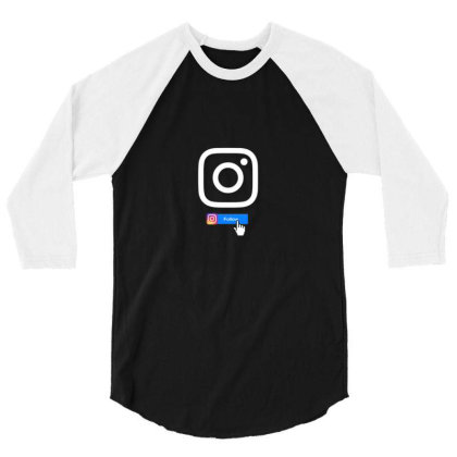 Instagram For Life 3/4 Sleeve Shirt Designed By Sufiyan67