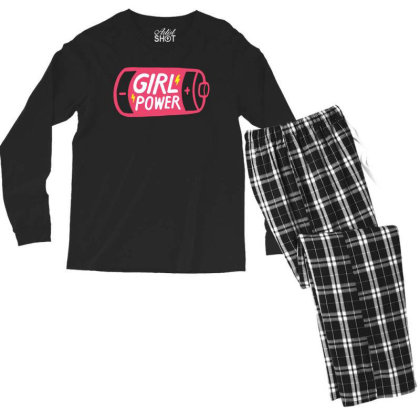 Battery Girl Power Men's Long Sleeve Pajama Set Designed By Beach Boy