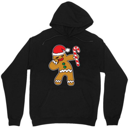Christmas Cookie Dabbing Gingerbread Man Unisex Hoodie Designed By Beach Boy