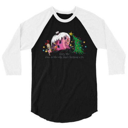 Every Who In Who Ville Liked Christmas Holiday 3/4 Sleeve Shirt Designed By Beach Boy