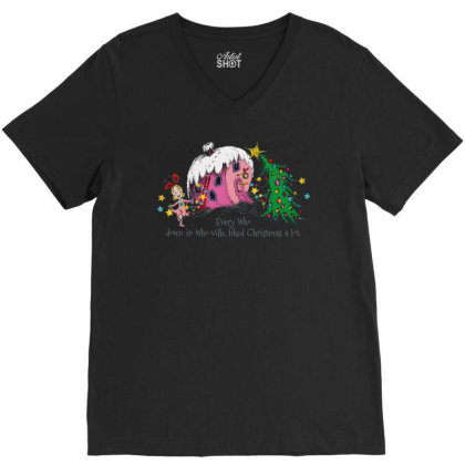 Every Who In Who Ville Liked Christmas Holiday V-neck Tee Designed By Beach Boy