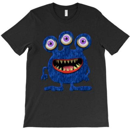 Cute Monster Baby Monster Face Eye Funny Halloween Gift T-shirt Designed By Love Shiga