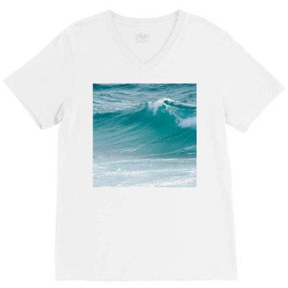 Ocean Waves ! V-neck Tee Designed By Shrez