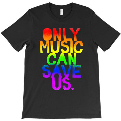 Only Music Can Save Us! Slim Fit T Shirt T-shirt Designed By Blackstars