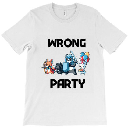 Wrong Party - Cute Animals Ninja T-shirt Designed By Cloudystars
