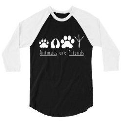 animals are friends 3/4 Sleeve Shirt | Artistshot