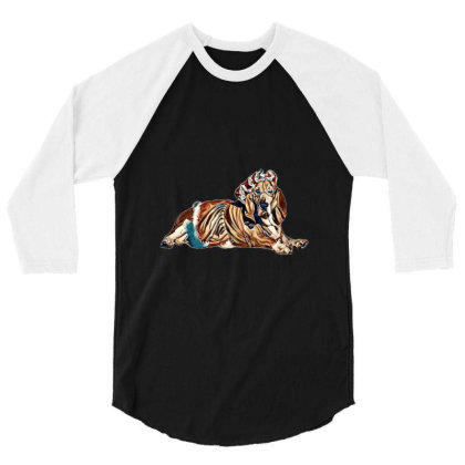 Dog Wearing Mrs Santa Clause 3/4 Sleeve Shirt Designed By Kemnabi