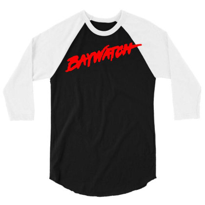 Baywatch Lifeguards Tv Show 3/4 Sleeve Shirt Designed By L4l4pow