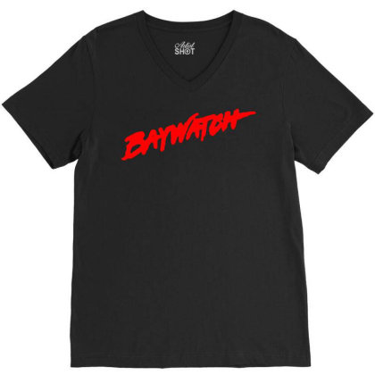 Baywatch Lifeguards Tv Show V-neck Tee Designed By L4l4pow