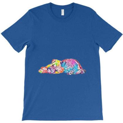 Two Young Lab Shepherd Mix Pu T-shirt Designed By Kemnabi
