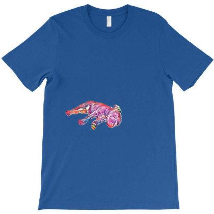 Sleeping Puppy In A Fancy Blu T-shirt Designed By Kemnabi
