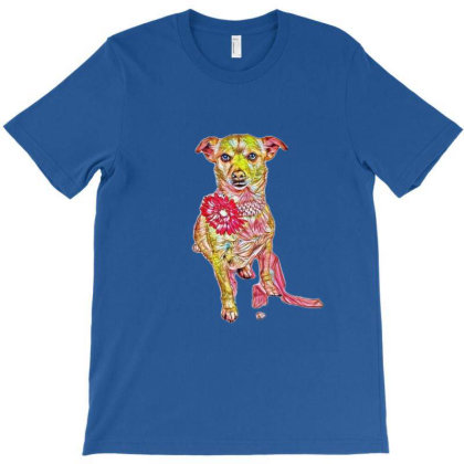A Cute Chihuahua Mix Dog Wear T-shirt Designed By Kemnabi