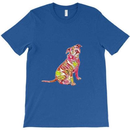 A Beautiful American Stafford T-shirt Designed By Kemnabi