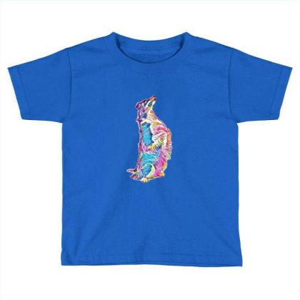 Shepherd Mix Dog On Hind Legs Toddler T-shirt Designed By Kemnabi