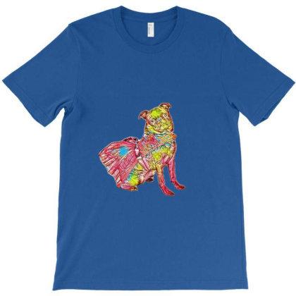 Black Pug Dog Isolated On Whi T-shirt Designed By Kemnabi