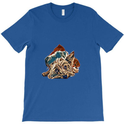Yorkshire Terrier Dog Laying T-shirt Designed By Kemnabi