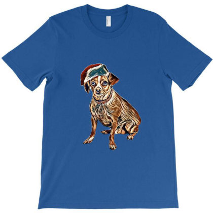 A Chihuahua Dog Wearing A Red T-shirt Designed By Kemnabi