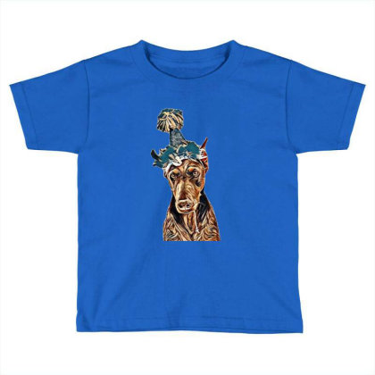 Doberman Pinscher Dog Wearing Toddler T-shirt Designed By Kemnabi