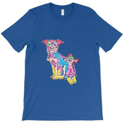 A Cute Scruffy Puppy Sitting T-shirt Designed By Kemnabi