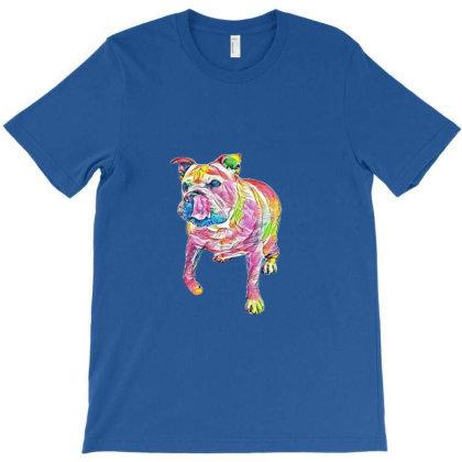 A Cute English Bulldog And Ch T-shirt Designed By Kemnabi