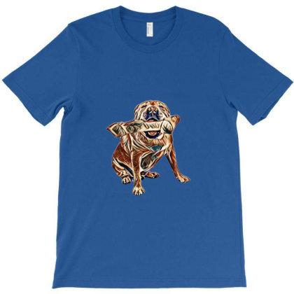 A Big English Bulldog And Chi T-shirt Designed By Kemnabi