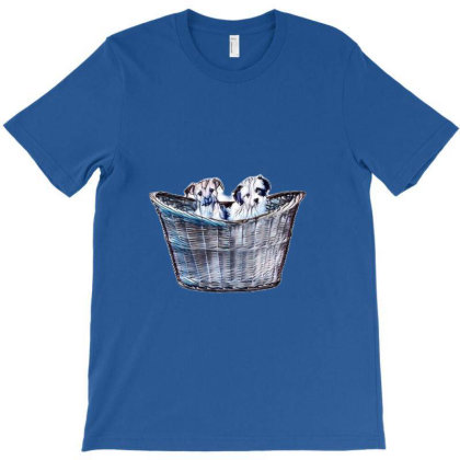 Two Adorable Small Eight Week T-shirt Designed By Kemnabi