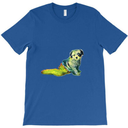 A Cute Mixed Breed Puppy In A T-shirt Designed By Kemnabi