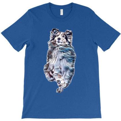 A Beautiful Shetland Sheepdog T-shirt Designed By Kemnabi