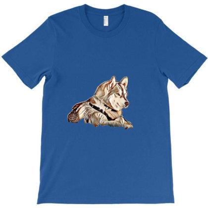 A Beautiful Siberian Husky Do T-shirt Designed By Kemnabi