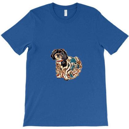 A Beautiful Shih Tzu And Pood T-shirt Designed By Kemnabi