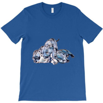 Four Cute Puppy Siblings. One T-shirt Designed By Kemnabi